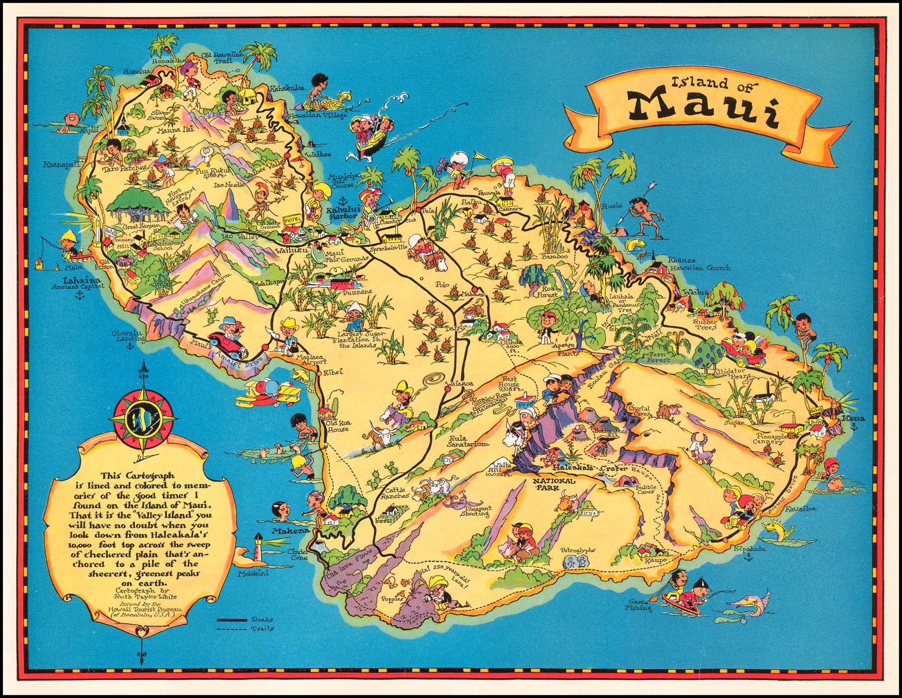 image regarding Printable Maps of Maui named Island of Maui - Barry Lawrence Ruderman Antique Maps Inc.