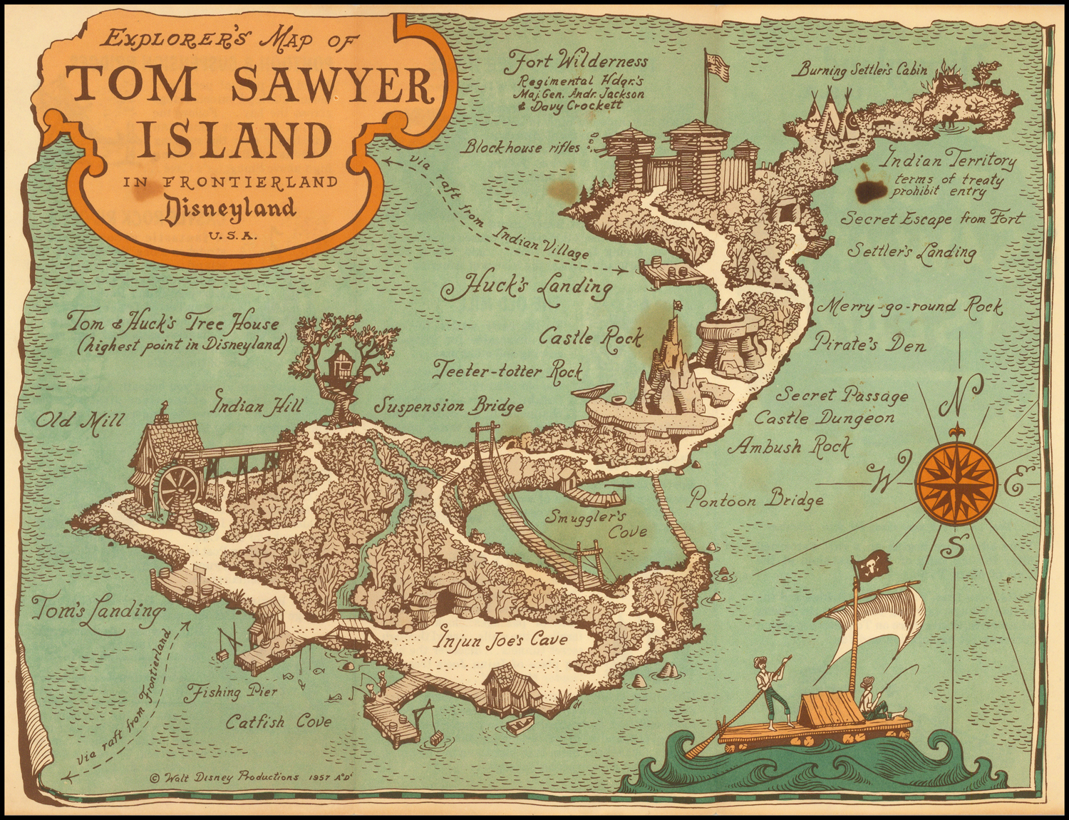 Explorer's Map of Tom Sawyer Island in Frontierland ... on map of bowbells north dakota, map of minot north dakota, map of wahpeton north dakota, map of richardton north dakota, map of bottineau north dakota, map of tioga north dakota, map of hazen north dakota, map of mandaree north dakota, map of underwood north dakota, map of lehr north dakota,