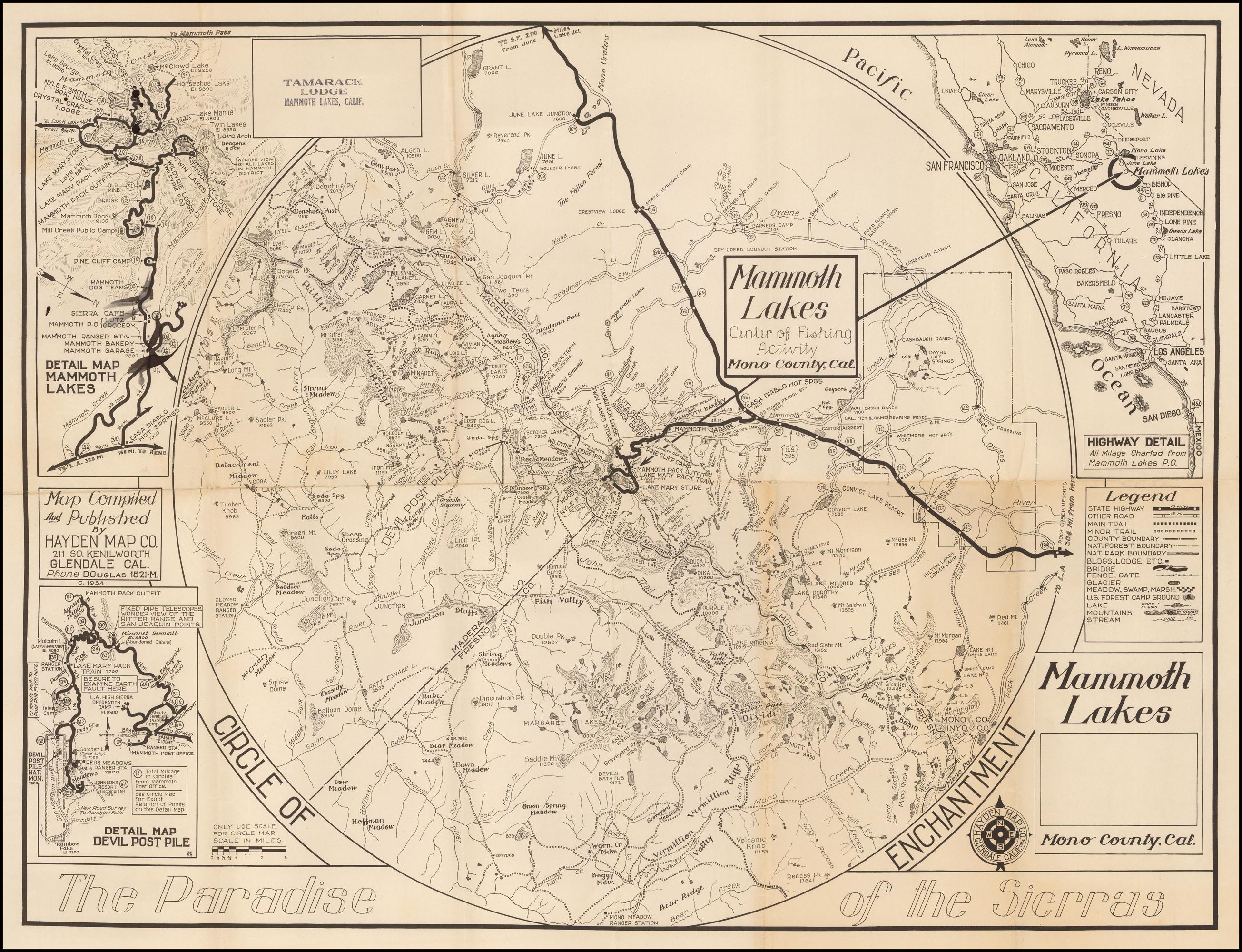 A Circle of Enchantment Mammoth Lakes, Mono County, Cal. The ... on big pine map, tempe lake map, hope ranch map, lake tahoe map, mono county map, riverbank map, pinon hills map, yosemite national park map, hayfork map, big bear map, mountain ranch map, california map, mt laguna map, fish camp map, june lake map, mammoth mountain map, laguna village map, gavilan hills map, mammoth village map, trinidad state beach map,
