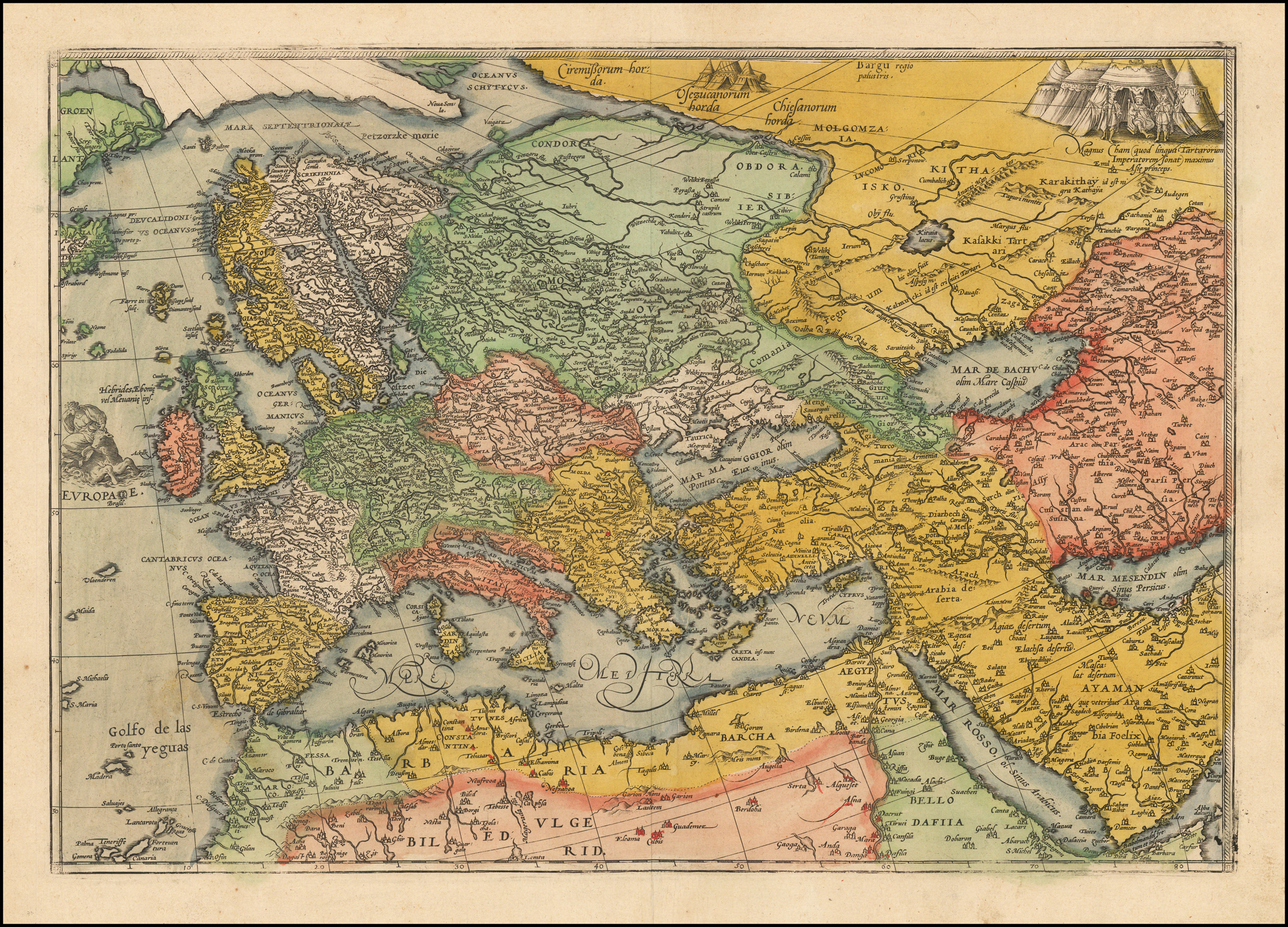 Picture of: Europae With Ottoman And Persian Empires Section From Unknown Wall Map Barry Lawrence Ruderman Antique Maps Inc