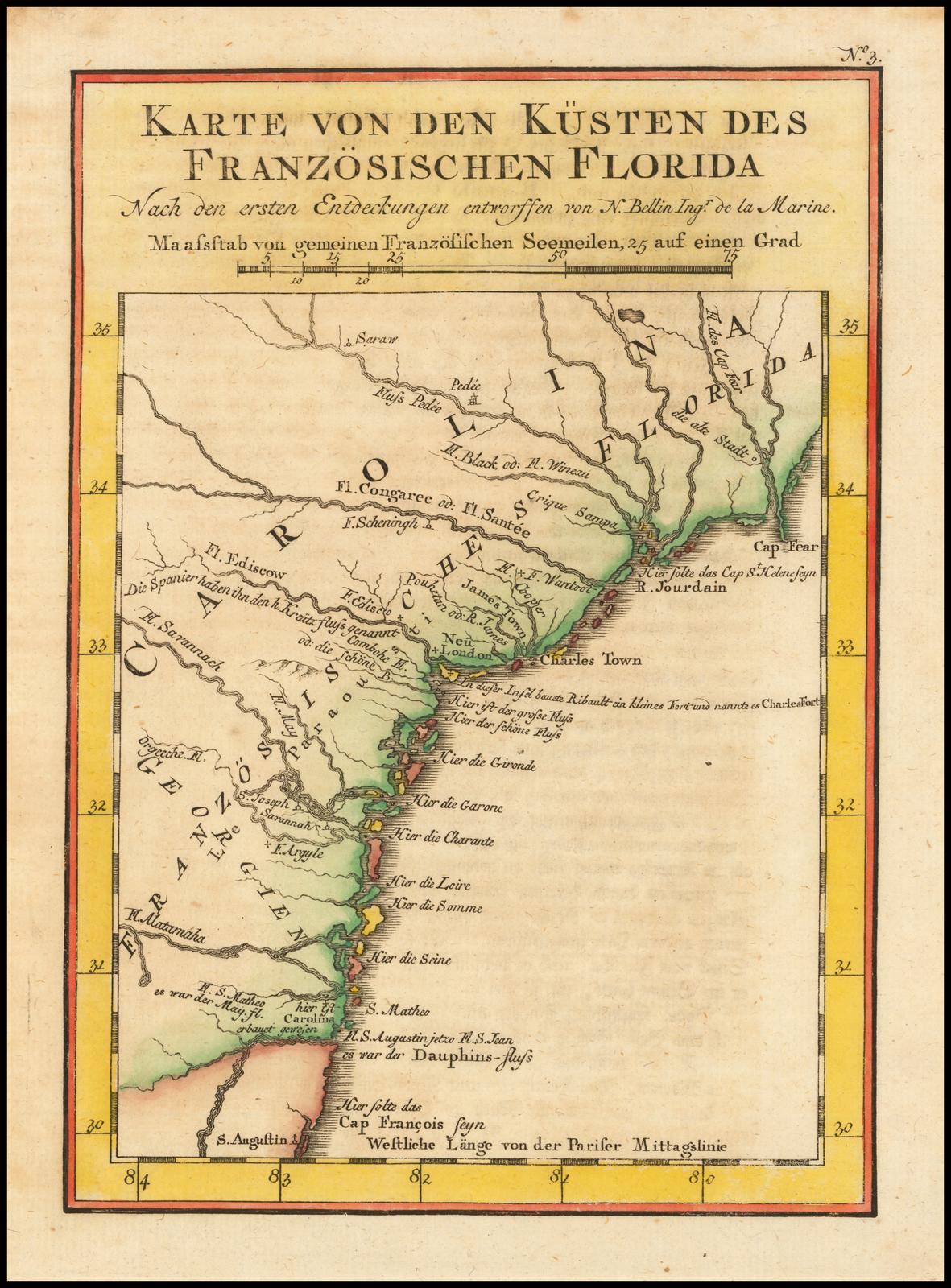 Karte Von Den Kusten Des Franzosischen Florida Barry Lawrence