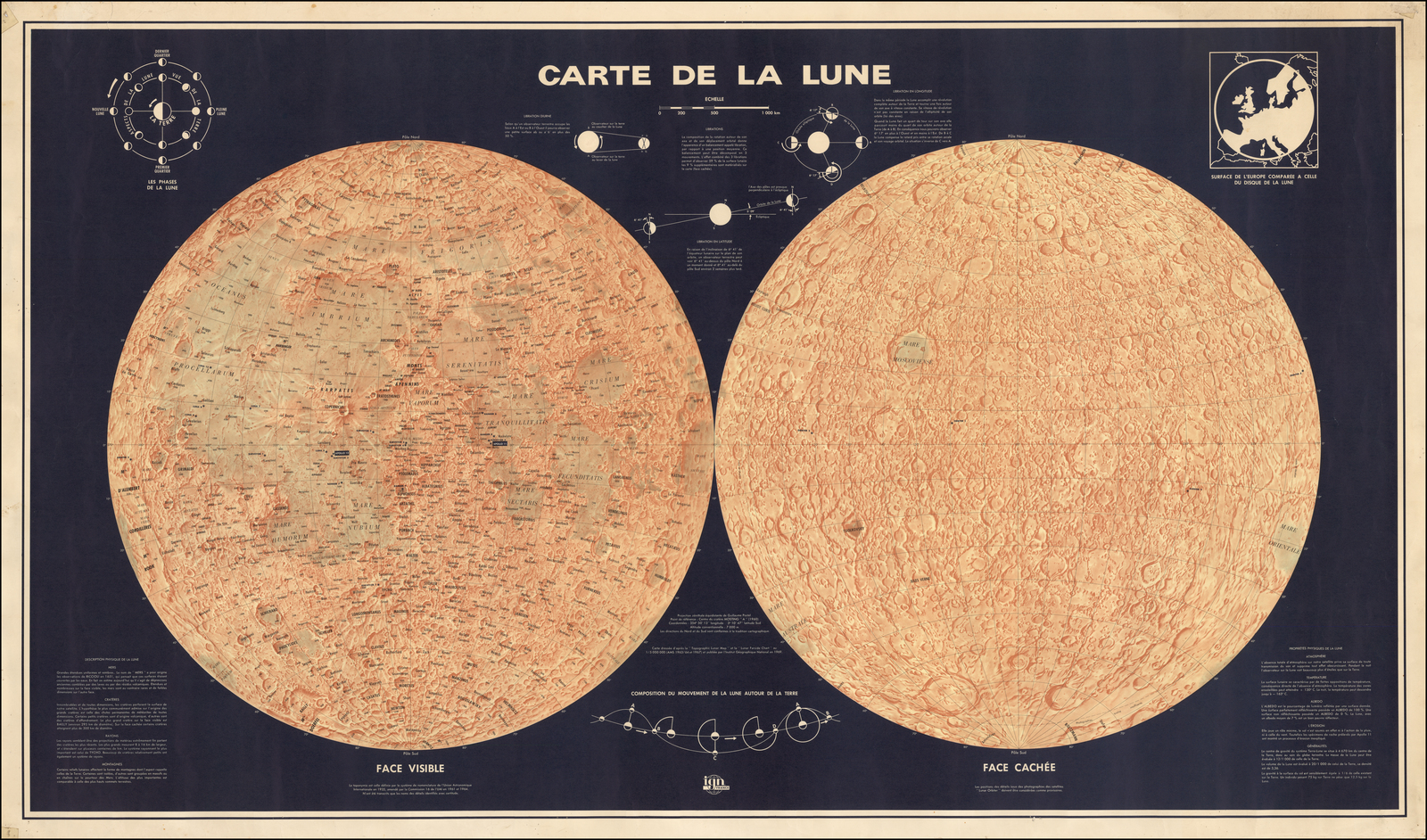 Carte Canada Ign.Moon Carte De La Lune Barry Lawrence Ruderman Antique