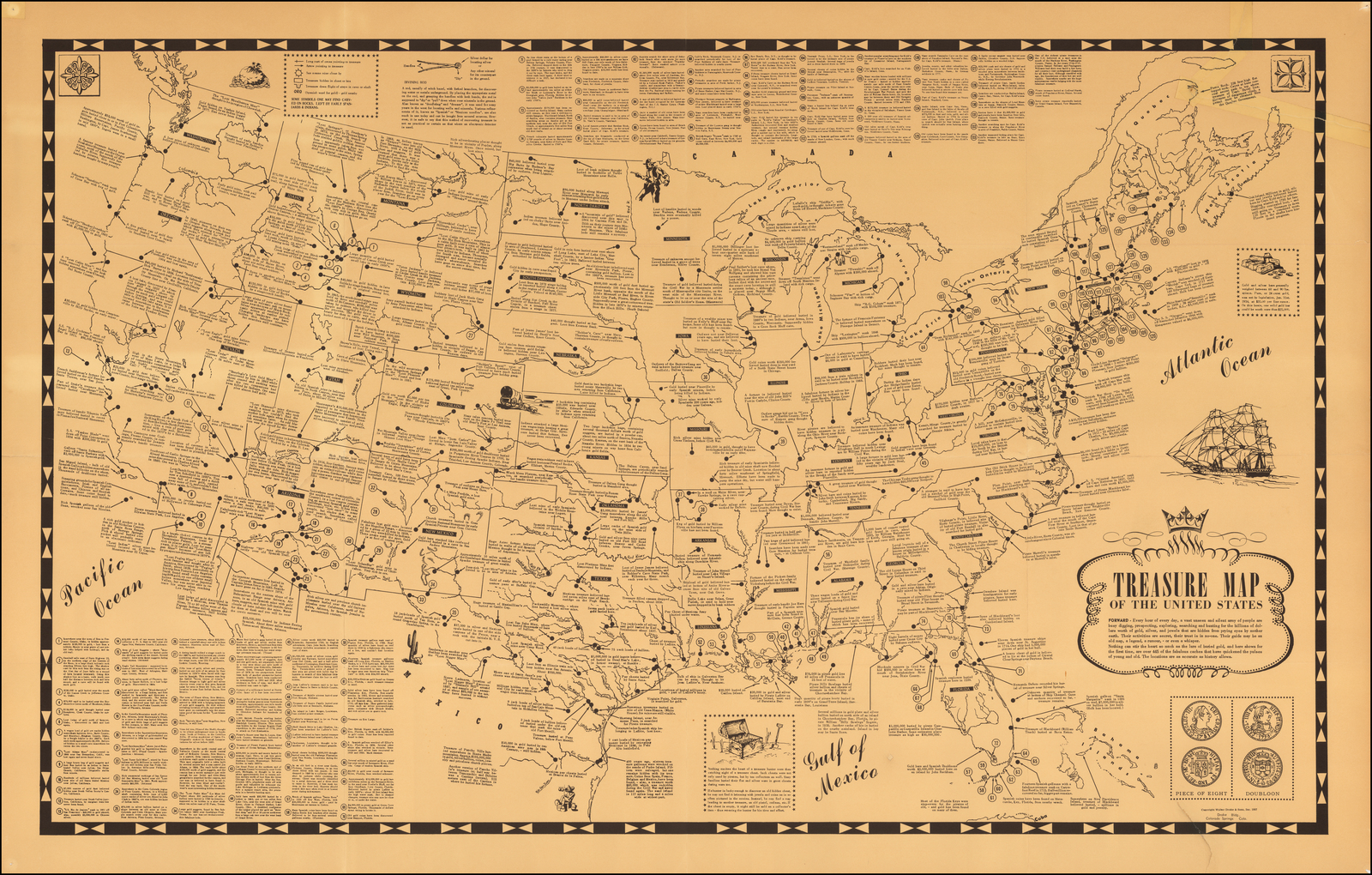 Treasure Map Of The United States Barry Lawrence Ruderman