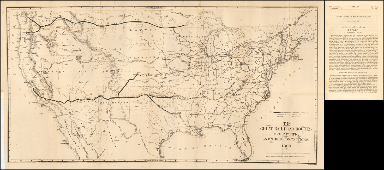 The Great Railroad Routes To The Pacific, And Their ...