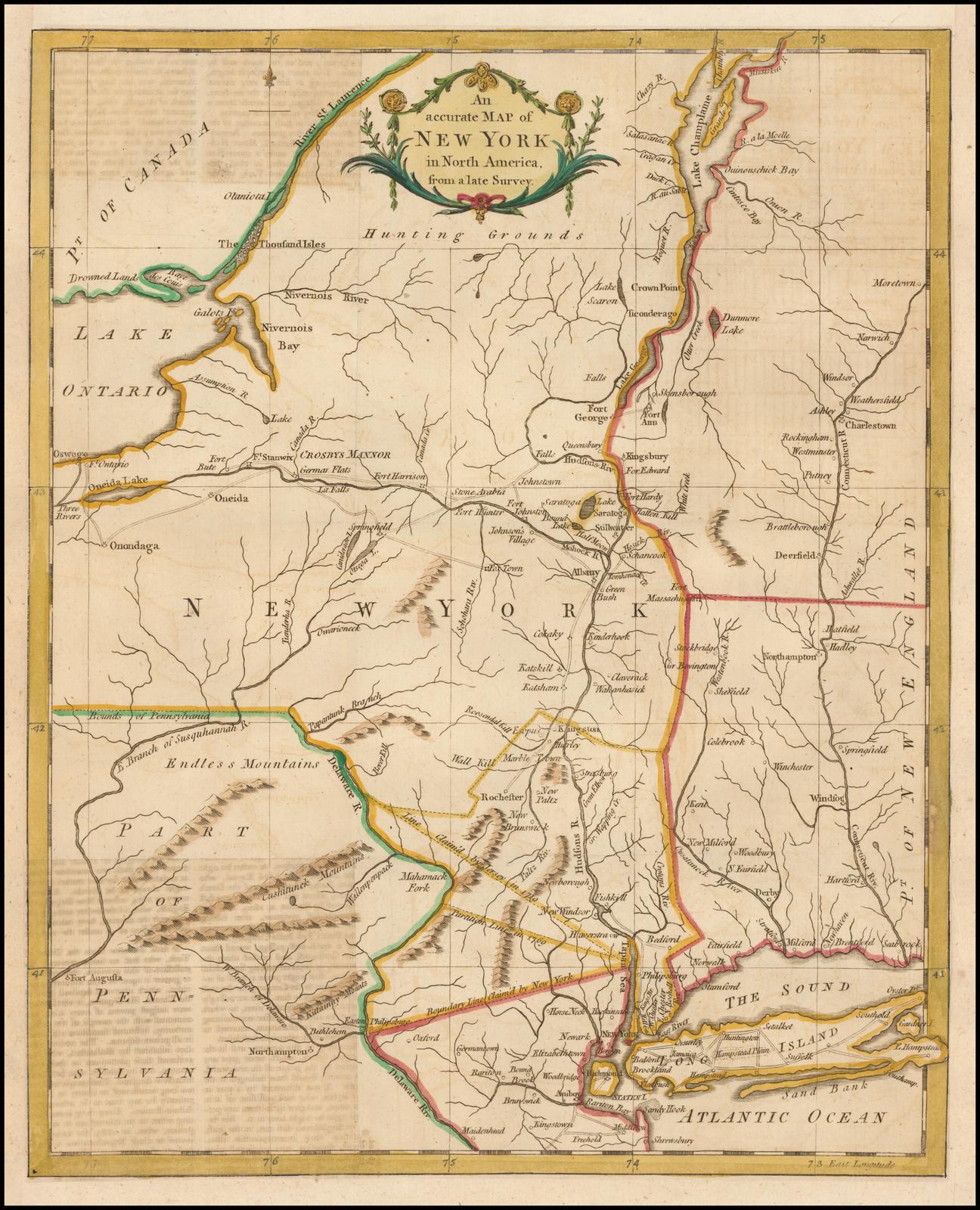 An accurate Map of New York in North America, from a late ... on