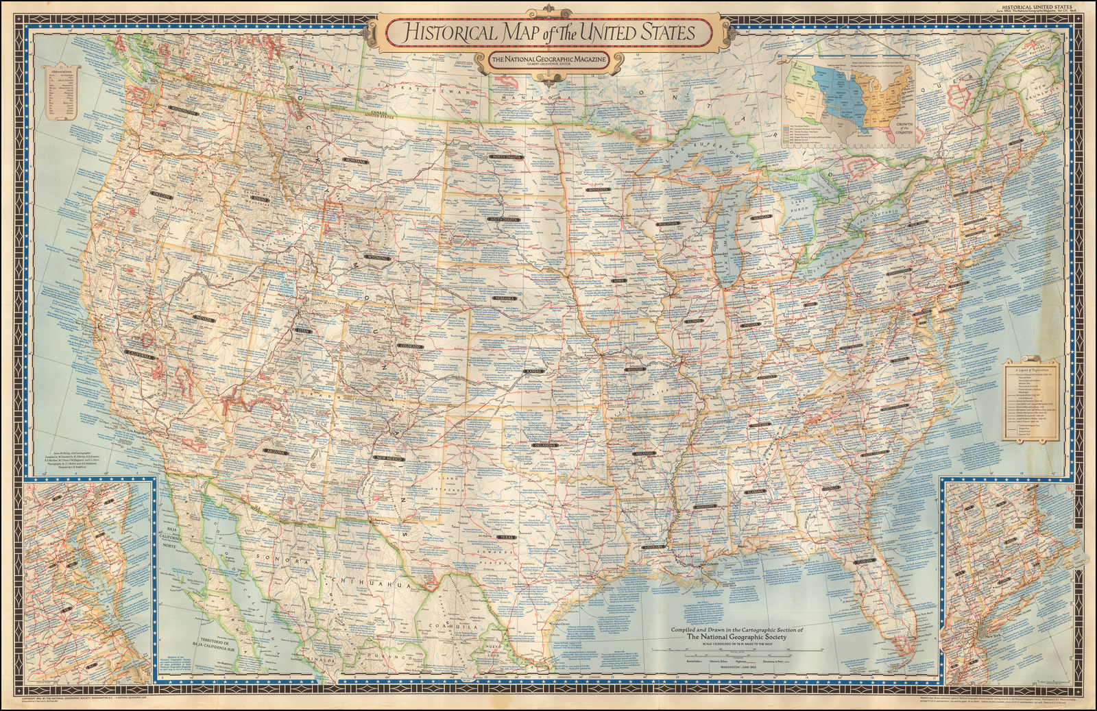 Historical Map of the United States - Barry Lawrence ...
