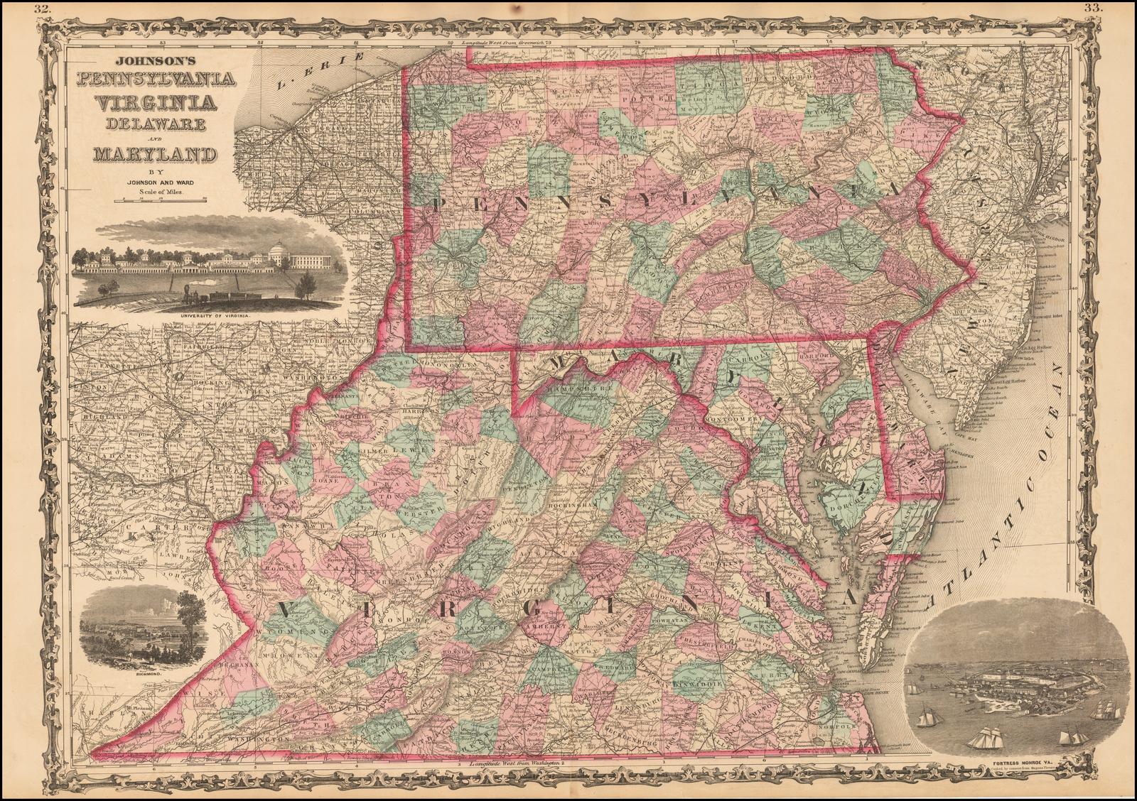 Johnson\'s Pennsylvania, Virginia, Delaware and Maryland ...
