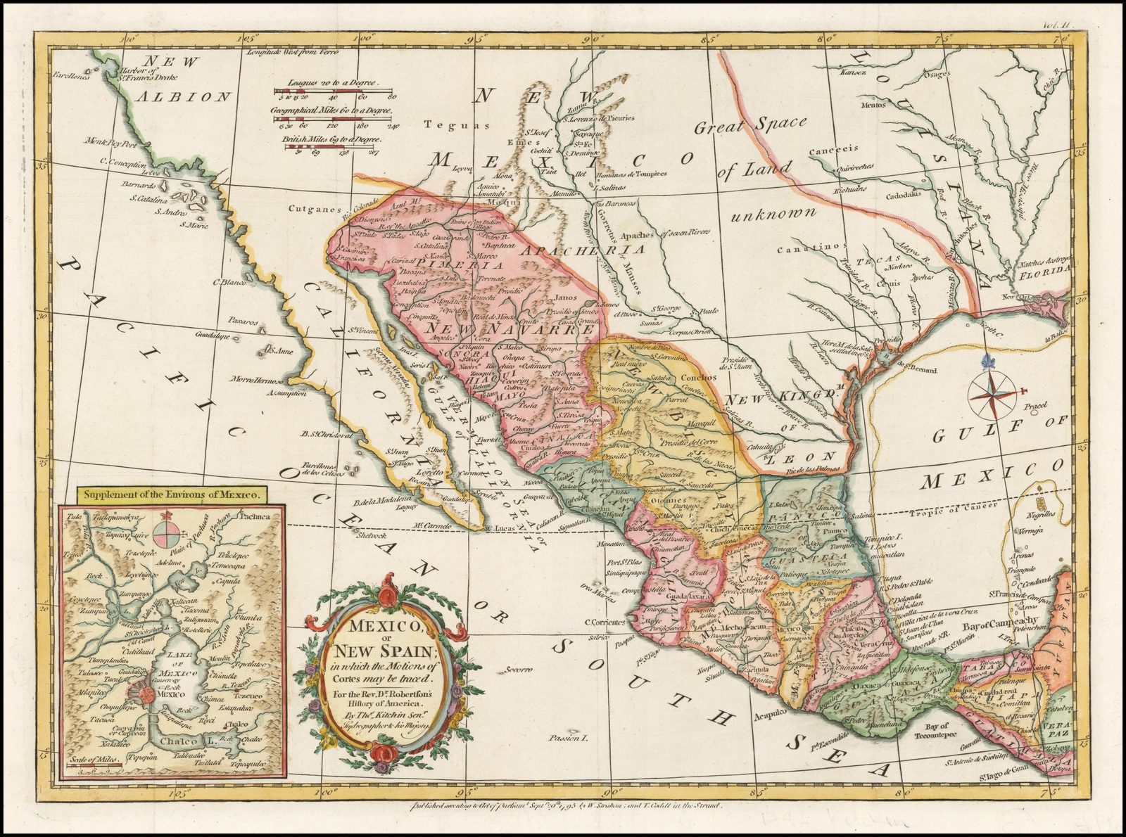 Map Of Texas Mexico.Mexico Or New Spain In Which The Motion Of Cortes May By Traced
