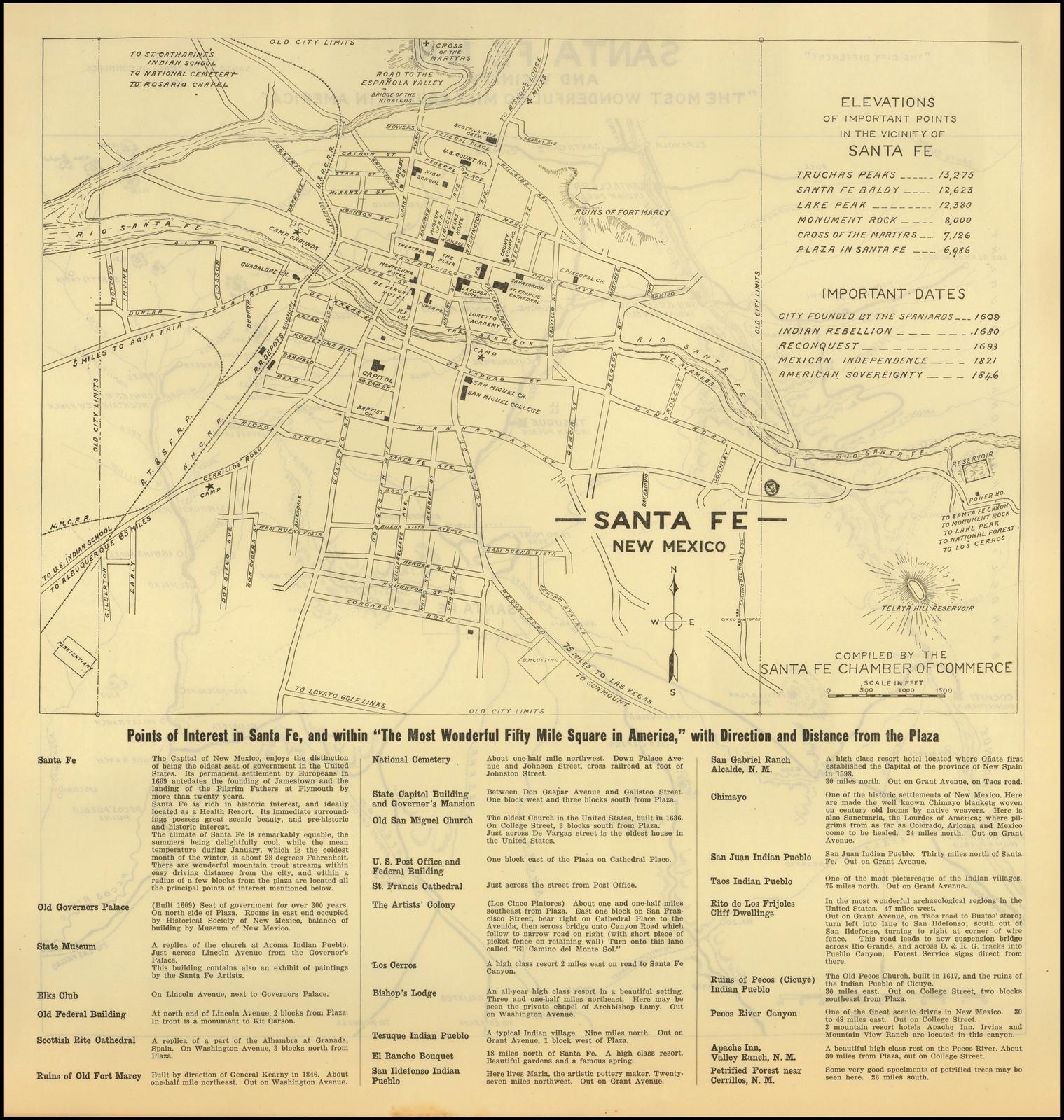 Santa Fe, New Mexico - Barry Lawrence Ruderman Antique Maps Inc.
