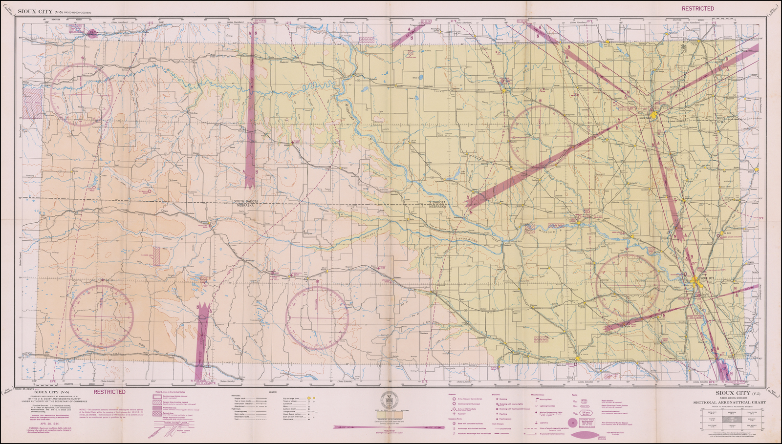Restricted) Sioux City       Sectional Aeronautical Chart