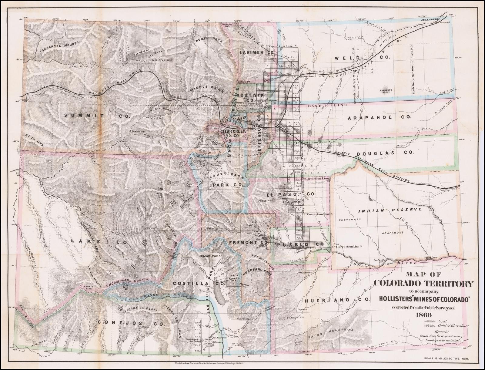 Map of Colorado Territory to accompany Holisters