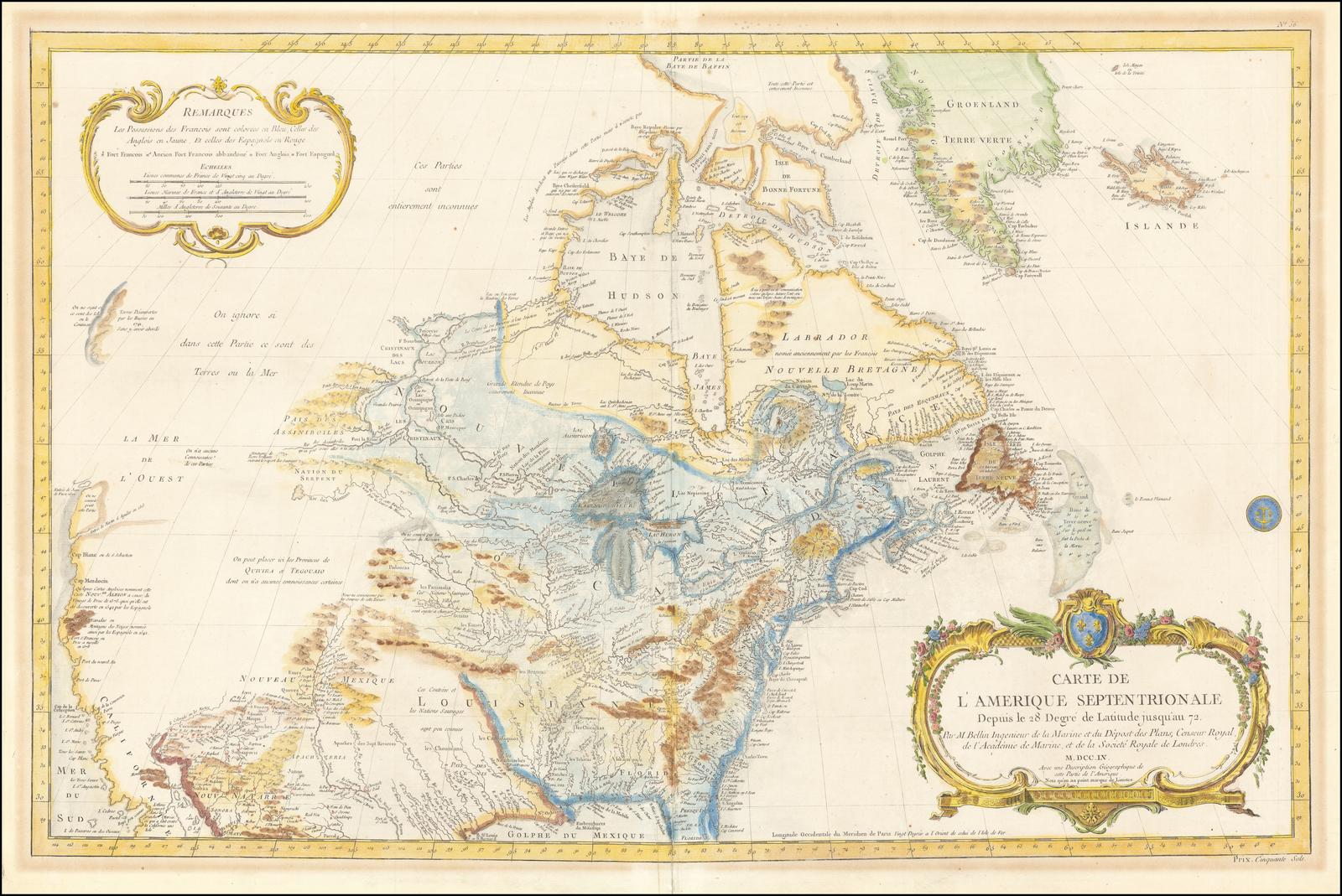 Carte De Lamerique.Carte De L Amerique Septentrionale Depuis To 28 Degre De
