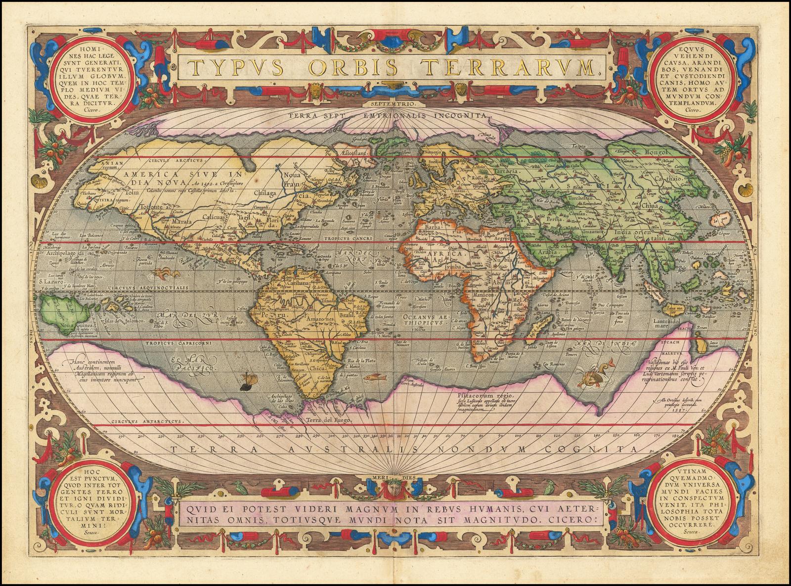 Typus Orbis Terrarum - Barry Lawrence Ruderman Antique Maps Inc