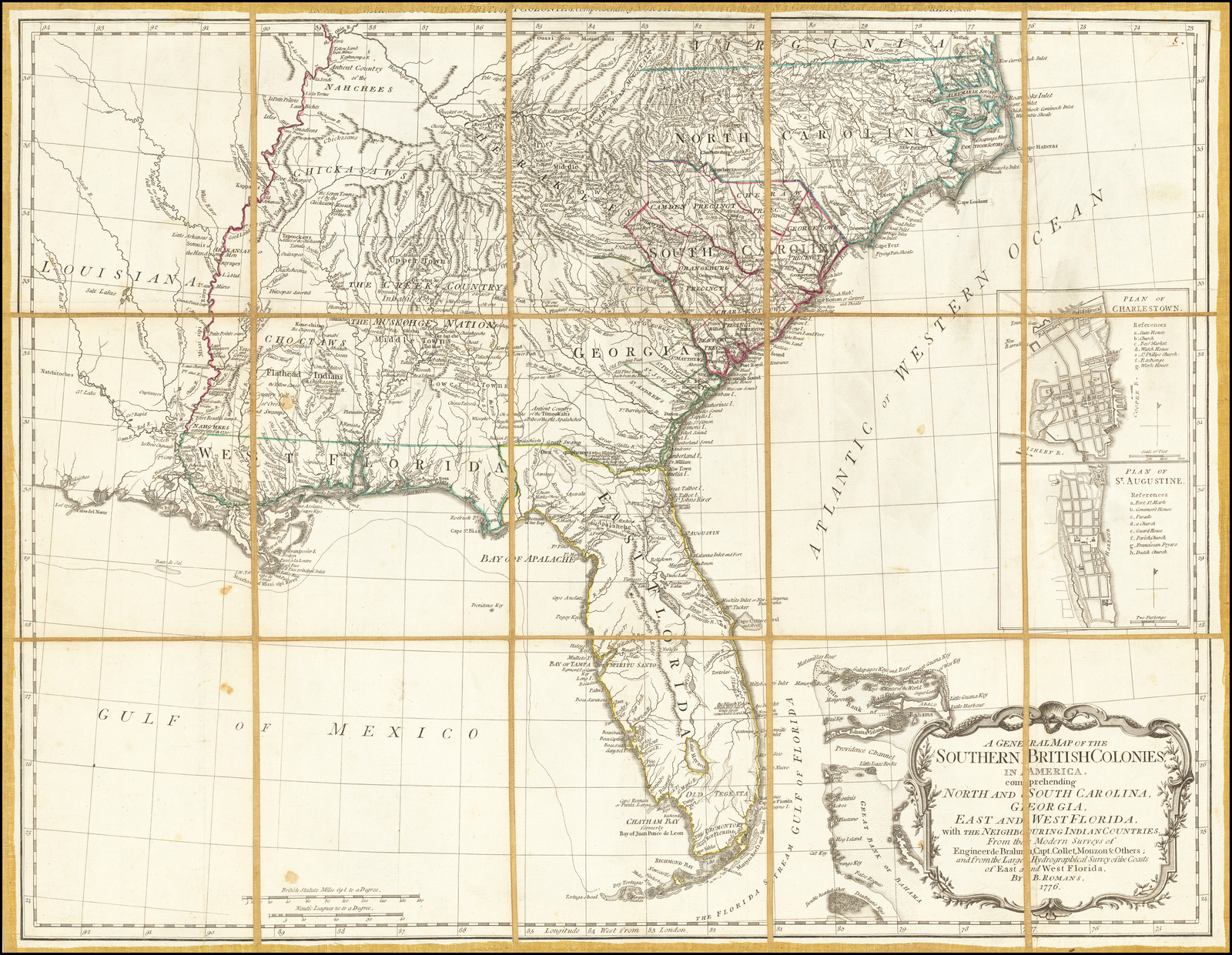 A General Map of the Southern British Colonies in America ...