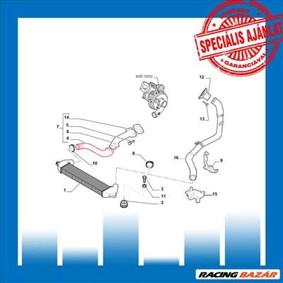 Intercooler Cső Fiat Doblo 51705995