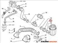 Levegőcső közbetét ALFA ROMEO 156 - FIAT eredeti