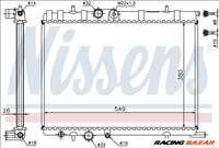 NISSENS 63502 Hűtőradiátor