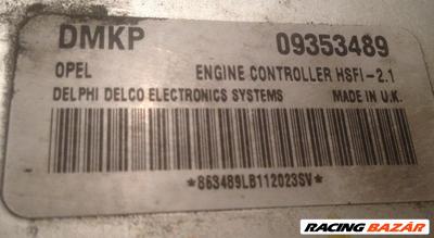 Opel Astra G DMKP 935489 HSFI-2.1 DO 1004 BE 09353489 5WK4763 24445098 Z14XE motorvezérlő