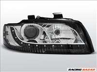 AUDI A4 2000.10-2004-10 Fekete Daylight Első lámpa