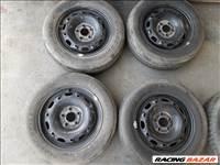 Skoda Vw 5x100 lyukosztású R14 újszerű lemezfelni, rajta 165/70 használt Dunlop nyárigumi sxx4