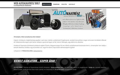 Web Autóalkatrész Bolt