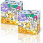 Bella Baby Happy 2 X Pieluszki Bella Baby Happy New Flexi Fit Mini Box 156Szt.