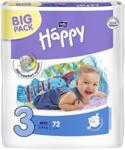 Bella Baby Happy Midi (3) 5-9 kg BIG PACK 72 szt.