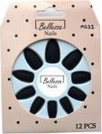 BELLEZZA NAILS TIPSY PAZNOKCIE SZTUCZNE MATT - 12SZT. - NMS33