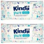 Cleanic Kindii Pure Chusteczki Nawilżane Dla Dzieci I Niemowląt 2X60Szt