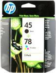 HP HP SA308AE HP 45 + HP 78 czarny i kolorowy Kolorowy (SA308AE)