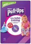 Huggies Pieluchomajtki Pull-Ups Girl 2-4 Lata 15-23 Kg 15Szt.