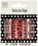 Linziclip Midi Hair Clip 1szt W Spinka do włosów Tiger Red Pearl