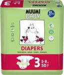 Muumi Pieluchy Jednorazowe Baby Midi (5-8Kg) 50Szt