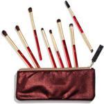 Nabla Ruby Complete Eye Brush Set Zestaw Pędzli Do Makijażu Z Kosmetyczką Ruby Complete Eye Brush Set