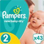 Pampers New Baby-Dry Pieluchy 2 Mini 43 sztuki