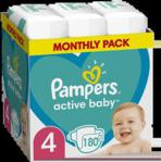 Pampers Pieluchy Active Baby Rozmiar 4 180Szt.