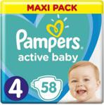 Pampers Pieluchy Active Baby rozmiar 4, 58 pieluszek