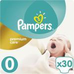 Pampers Pieluchy Premium Care rozmiar 0, 30 pieluszek