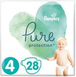 Pampers Pieluchy Pure Protection rozmiar 4, 28Szt.