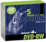 PLATINUM DVD+RW 4.7GB 4x Slim 1szt