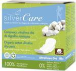 Podpaski Silver Care, ultracienkie z organicznej bawełny, ze skrzydełkami, na dzień, 10szt.