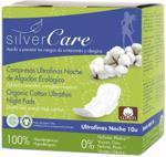Silver Care podpaski ultracienkie z organicznej bawełny ze skrzydełkami na noc 10szt.