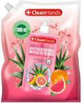 Świt Cleanhands Mydło Antybakteryjne W Płynie Grapefruit Zapas 1L