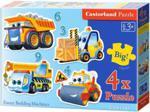 x4 Kontur - Funny Building Machines Castorland
