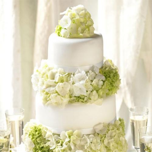 Simple elegance wedding cake