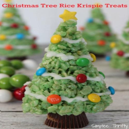 Rice Krispie Treats Christmas Tree.Christmas Trees Rice Krispie Treats