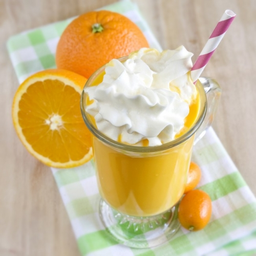 vegan orange creamsicle milkshake