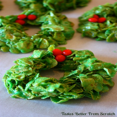 Christmas Cornflake Wreaths Marshmallows
