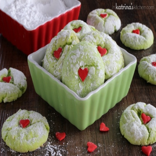 Grinch Cookies Vanilla Cake Mix