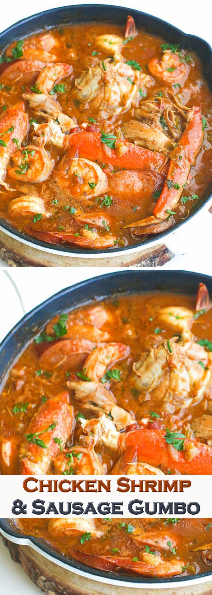 Chicken Shrimp Sausage Gumbo